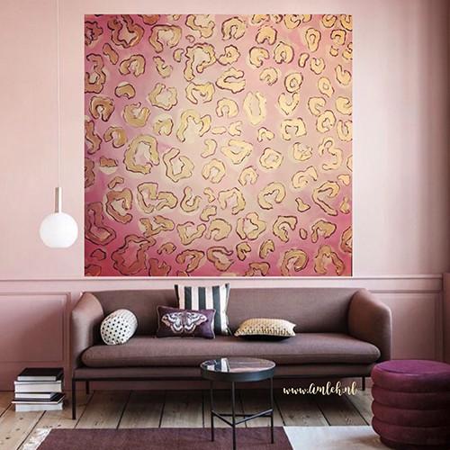 Pink Panther Painting   Atelier Amleh Art
