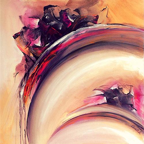 Schilderij Present   Atelier Amleh Art